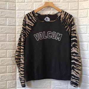 Volcom animal print sweatshirt